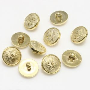 Buttons, Resin, Gold colour, 3 buttons, Diameter 10mm (approximate), (XMK648)